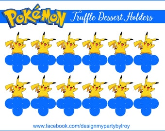 PIKACHU, PIKACHU PARTY Decor, Pikachu Party Favors,Forminhas,Pokemon Candy Holders,Pokemon Party Supplies,Pikachu Decoration,Pokemon Decor.