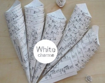 Rice/score printed confetti Cones Kit door, names sposi-Theme Music