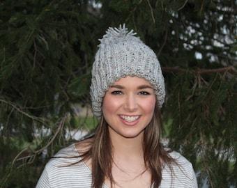 Pom Pom Beanie-Reduced Rate!, Beanie, Crochet Beanie, Winter Hat