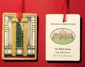 White House Christmas Ornament - State Dining Room - John F. Kennedy Administration