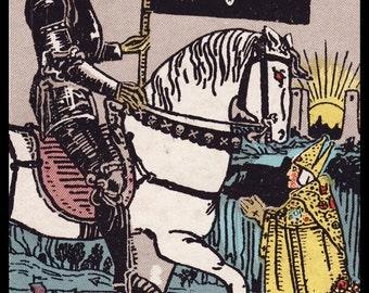 New Color Sticker Victorian Rider-Waite Tarot Card Death Goth Gothic Metal Emo