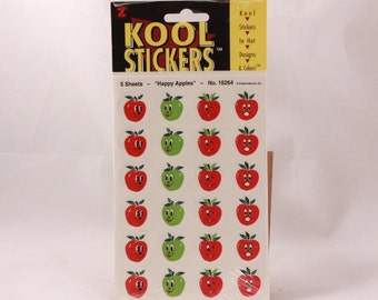 Vintage Z International KOOL Stickers. Happy Apples. Sealed