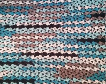 Crochet multicolor baby blanket