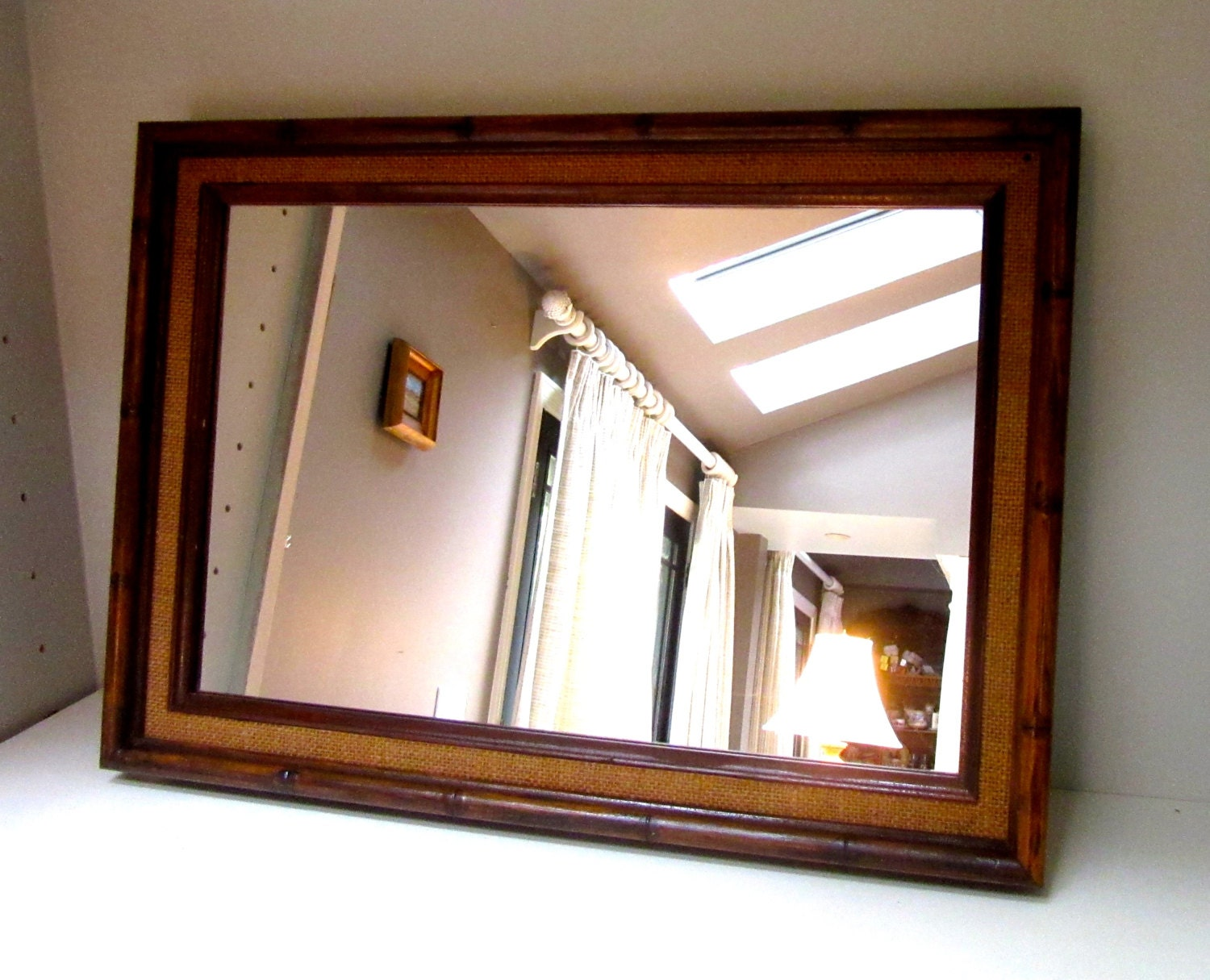 Bamboo Mirror Wooden Mirror Rectangular Tall Mirror