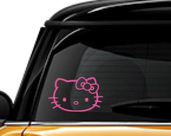 Hello Kitty decal, FREE SHIPPING, laptop decal, vinyl decal, #hellokitty, cell phone decal, home decor decal, pink decal