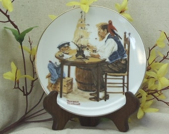 """Vintage Norman Rockwell's Four Beloved Classics Series Collectors Plate,""""For A Good Boy"""",1982,#VCP8005"""