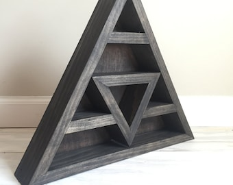 Triangle Shelf for Crystal Display