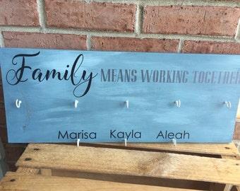 Family Chore Chart / Responsibility Chart / Hand Painted Chore Board /