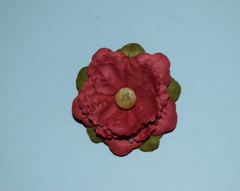 Paper Red Poppy Pin