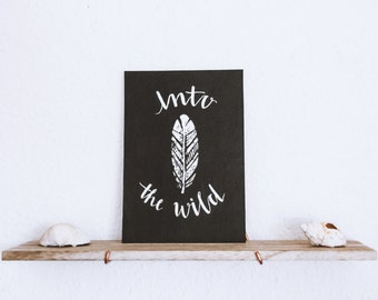 Into The Wild Print - Black and White