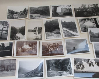 Lovely Collection of 20 Vintage British Black and White Photographs ~ People/Places/Scenery