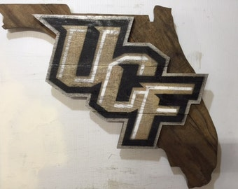 UCF Knights Wooden Wall Sign University of Central Florida