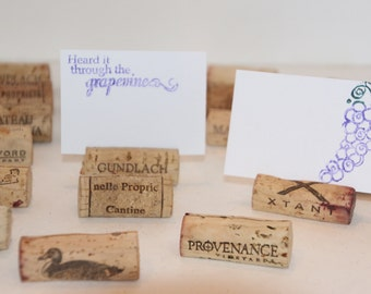 Wine Cork Recycled Place Name Card Holder Set of 25