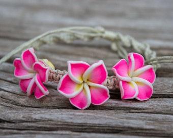 Plumeria Fimo Bracelet (Multi-Color)