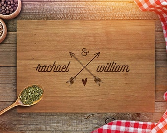 custom cutting board wedding gift personalized cutting board gift engraved cutting board with couples