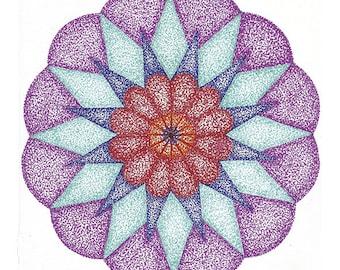 mandala cristal flower