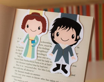 Set of Elizabeth and Mr Darcy Magnetic Bookmarks | Pride and Prejudice by Jane Austen