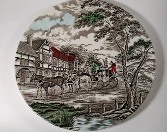 """SALE! Myott Royal Mail Hand Engraving Fine Stafffordshire Ware 10"""" Plate Made in England"""