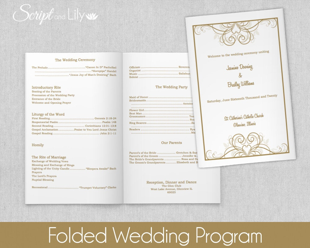 folded program template