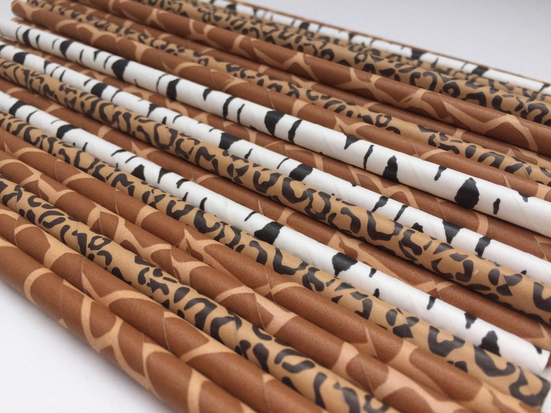 Google themes on safari - Safari Party Supplies Jungle Theme Straws Zoo Straws Jungle Straws Safari Straws Paper Straws