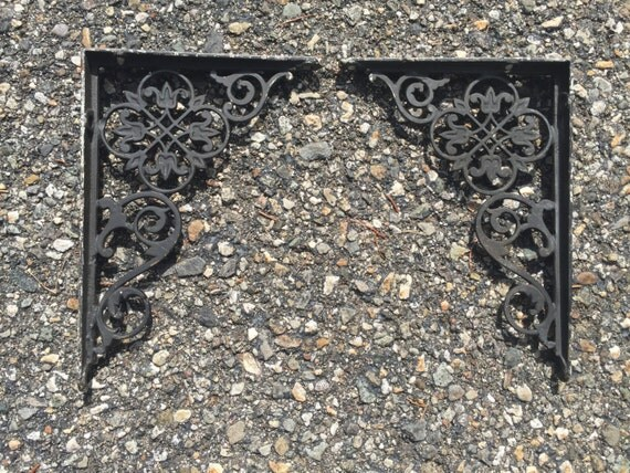 Small Antique Shelf Brackets Victorian Decorative Floral