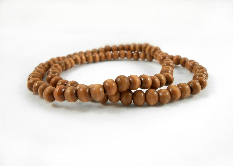 wooden bead bracelets two medium wood bead bracelets 4mm