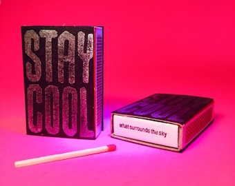 Stay Cool Black/Silver Matchboxes
