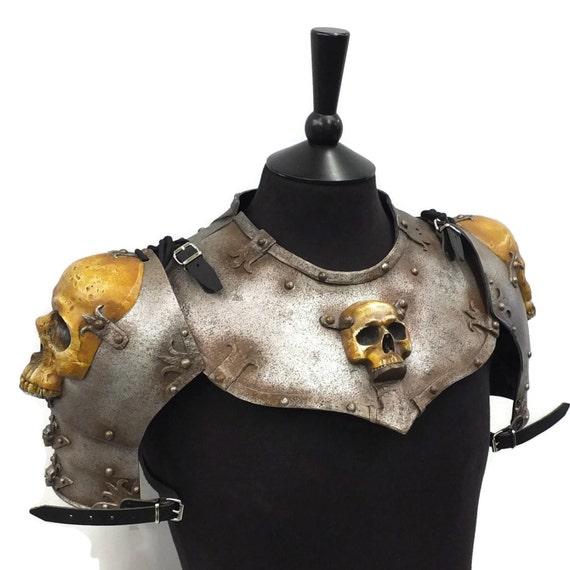 Larp Armour Ominous Skull Gorget Set