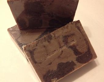 Chocolate Espresso Soap / Handmade Soap / Cold Process Soap / Bar Soap / Exfoliating Soap / Kitchen Soap / Soap