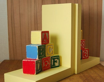 Alphabet Blocks Bookends