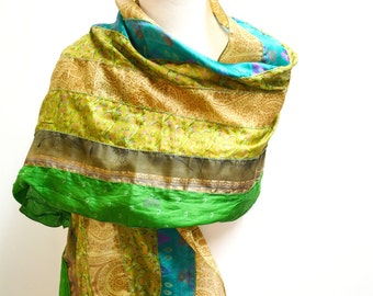 GREEN Recycled Silk Sari Scarves