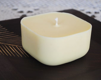Soya Wax Candle - Xmas, Christmas Table Centre Piece - Gothic, Scary - Pale Yellow Colour