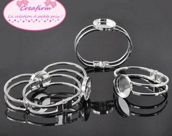 4 support cabochon bracelets silver