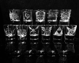 Legend of Zelda Complete Shot Glass set - Set of 11