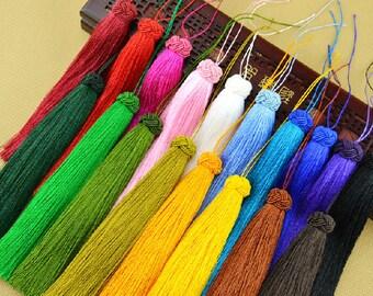 2pcs Silk Tassel,Mala Tassel,Quality Tassel,Silky Luxe Tassels, Boho Tassel,Craft Supplies,Designer Jewelry Making TAS004
