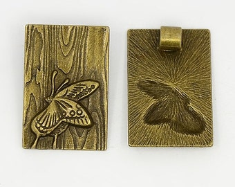 Butterfly Pendant, Antique Bronze Finish (CH-AB-10), 2 count