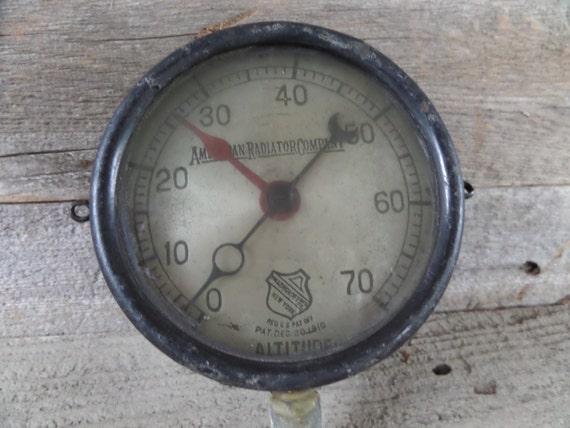 Industrial gauge steampunk gauge pressure gauge vintage - Steampunk pressure gauge ...