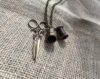 Vintage Sewing Necklace
