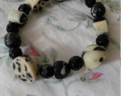 Assorted Black & Cream Hand crafted Necklace