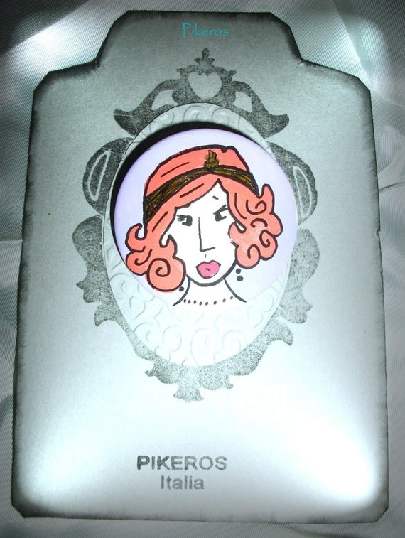 Women retro pin 005by  Pikeros
