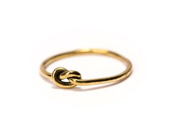 Knot ring Brass, Handmade, Simple Jewellery Simplistic Design, Infinity Ring, Friendship Ring, Gift Boxed + Gift Bag , Free UK Delivery