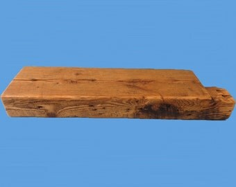 "reclaimed barn beam wood floating shelf , 24"" long , from a torn down barn #38"