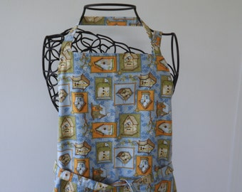 Adult Apron, Birdhouses