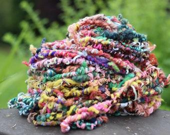 Wacky wild handspun art yarn super bulky mini skeins
