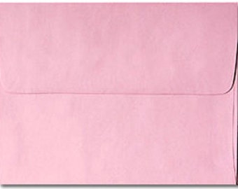 20 Pastel Pink Envelopes in A7, A6, A2 & A1 Sizes