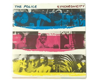 "The Police, ""Synchronicity"", vinyl record album, new wave LP, 1980s, sting, andy summers, stewart copeland"