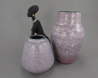 Vintage set of two vases / Römhild / Gramann   German Pottery   60s