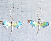 Dragonfly Earrings with S...
