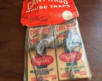 Vintage McGill Mouse Traps/Vintage Mouse Traps/Can't Miss Mouse Traps