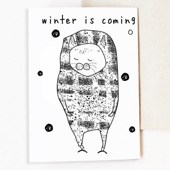 Dodobob Cat Card Cat Cards Funny Cat Card Best Friend Card